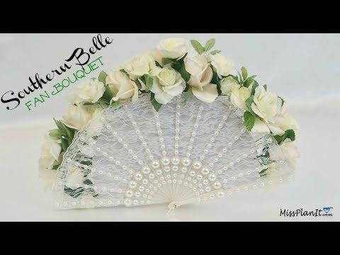 Easy DIY Southern Belle Fan Bouquet | Elegant Flower Bouquet | DIY Tutorial