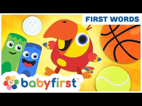 Toddler Learning Video Words W Color Crew & Larry   Baby Learning First Words & ABC   Baby First TV