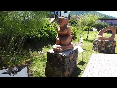 Visitando os jardins de GRAMADO RS.