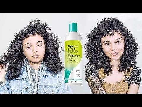 DevaCurl Decadence No-Poo For Shiny Curls!