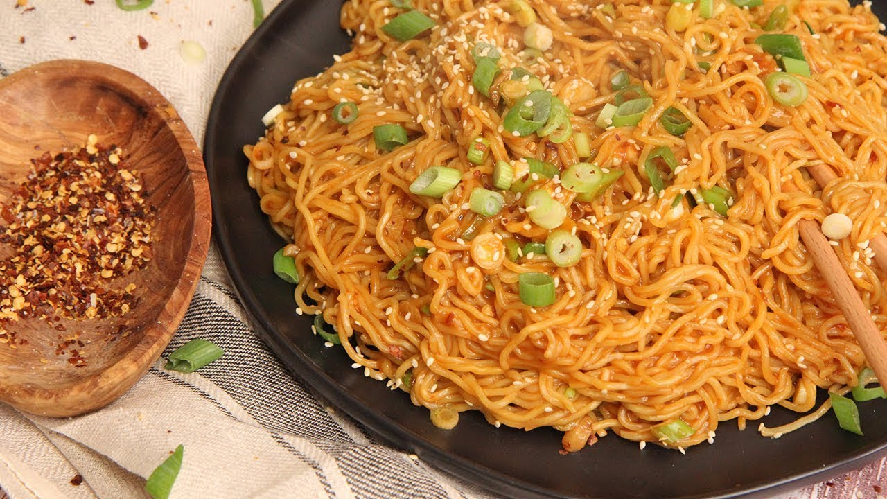 Spicy Noodles Recipe Laura In The Kitchen Internet Cooking Show So happy to be home!! spicy noodles recipe