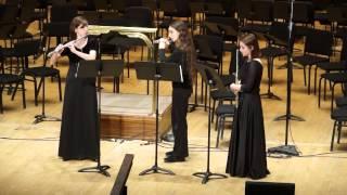 Trio op.59, Alexander Tcherepnin, Detroit Symphony Civic Flute Trio, 3/2/2014