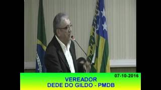 Pronunciamento Dedé do Gildo 07 10 16
