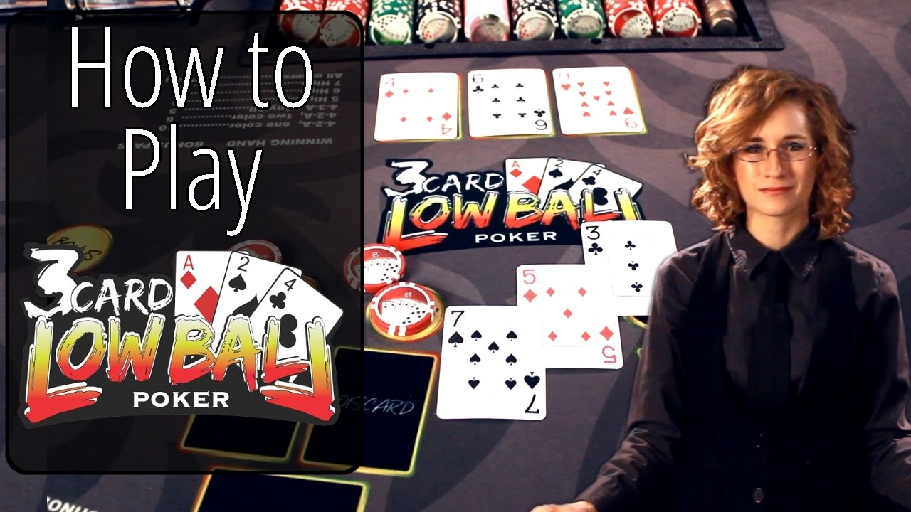 How to Play Three Card Lowball Poker - YouTube