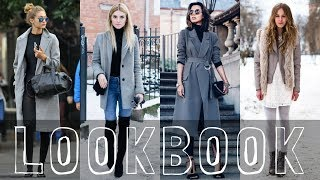 50 Grey Coat Outfits Combinations - Female Fashion