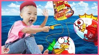 뽀로로 짜장면 먹고 싶을때 상어가족 장난감 낚시 놀이 해요! Pororo Noodle pretend play with kids toys | 말이야와아이들 MariAndKids