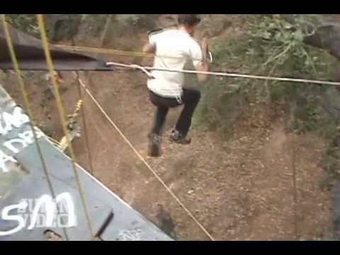 Homemade Zipline Fail
