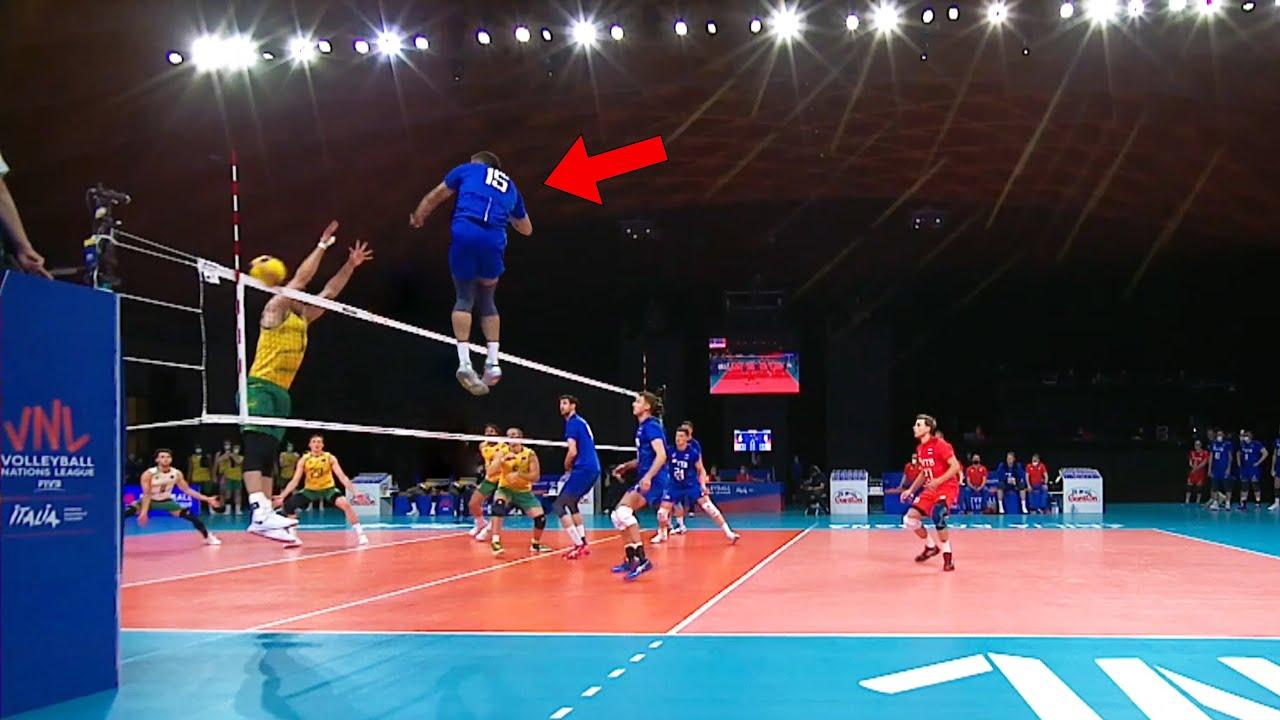 Is He Better Than Yuji Nishida !? Victor Poletaev   375cm Monster of the Vertical Jump   VNL 2021