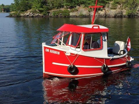 Candu Jr. Mini Tugboat adventures in Muskoka
