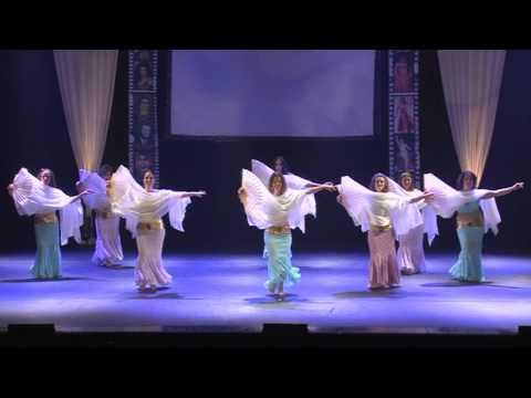 Fan Veil Belly Dance Isis Ensamble  ריקוד מניפות להקת איזיס