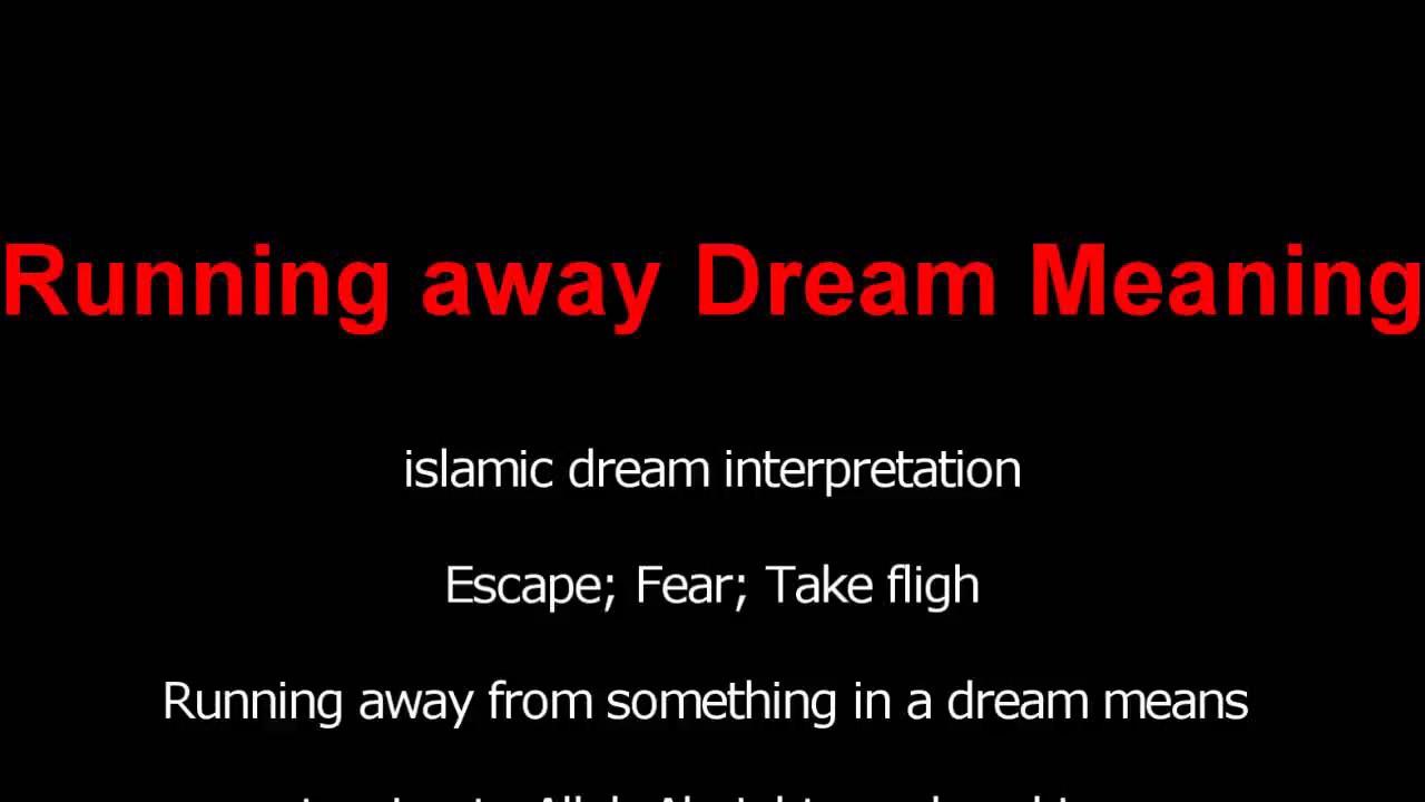 Why dream of running away