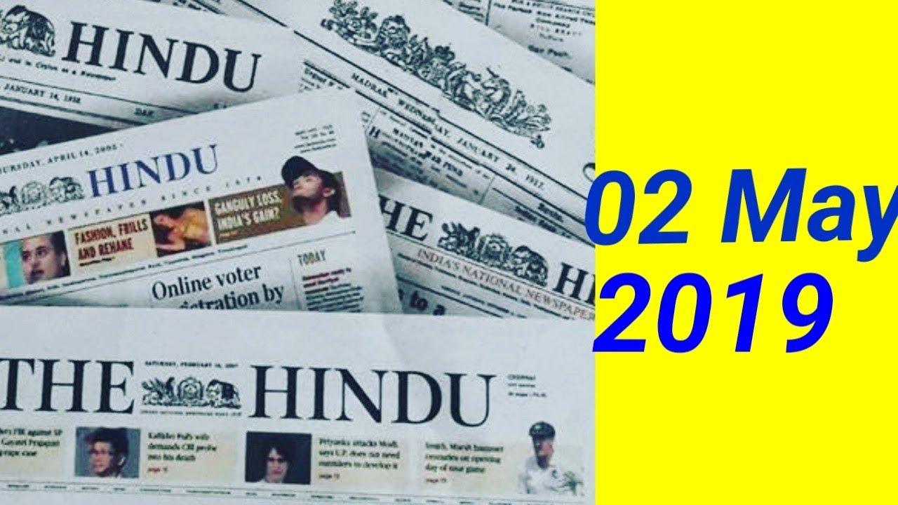 The Hindu Newspaper 02nd May 2019