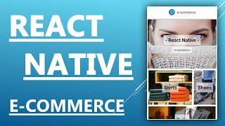 Reagieren Nativen Tutorial - Erstellen Und Gestaltung Eines E-commerce-App
