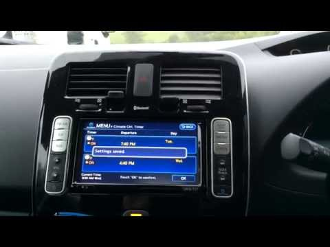 Climate Control Timer Setting - Nissan Leaf - Episode 63