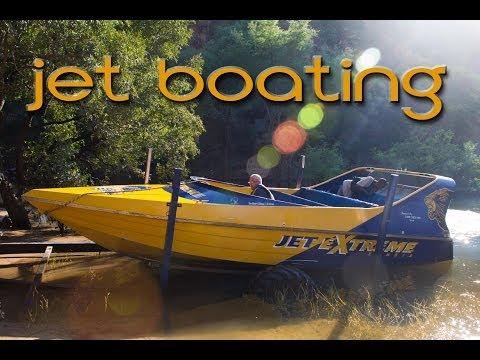Jet boating the Zambezi River, Zambia