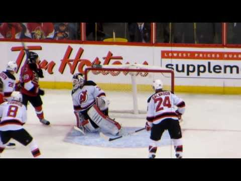 Martin Brodeur in action during the Devils @ Senators game