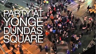 Toronto Blue Jays 2015 Highlights: Texas Rangers Game 5 Defeat, Party at Yonge-Dundas Square , ALDS