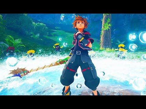 KINGDOM HEARTS 3 - 29 Minutes of Gameplay So Far (PS4 XBOX ONE) Kingdom Hearts III Gameplay Trailers