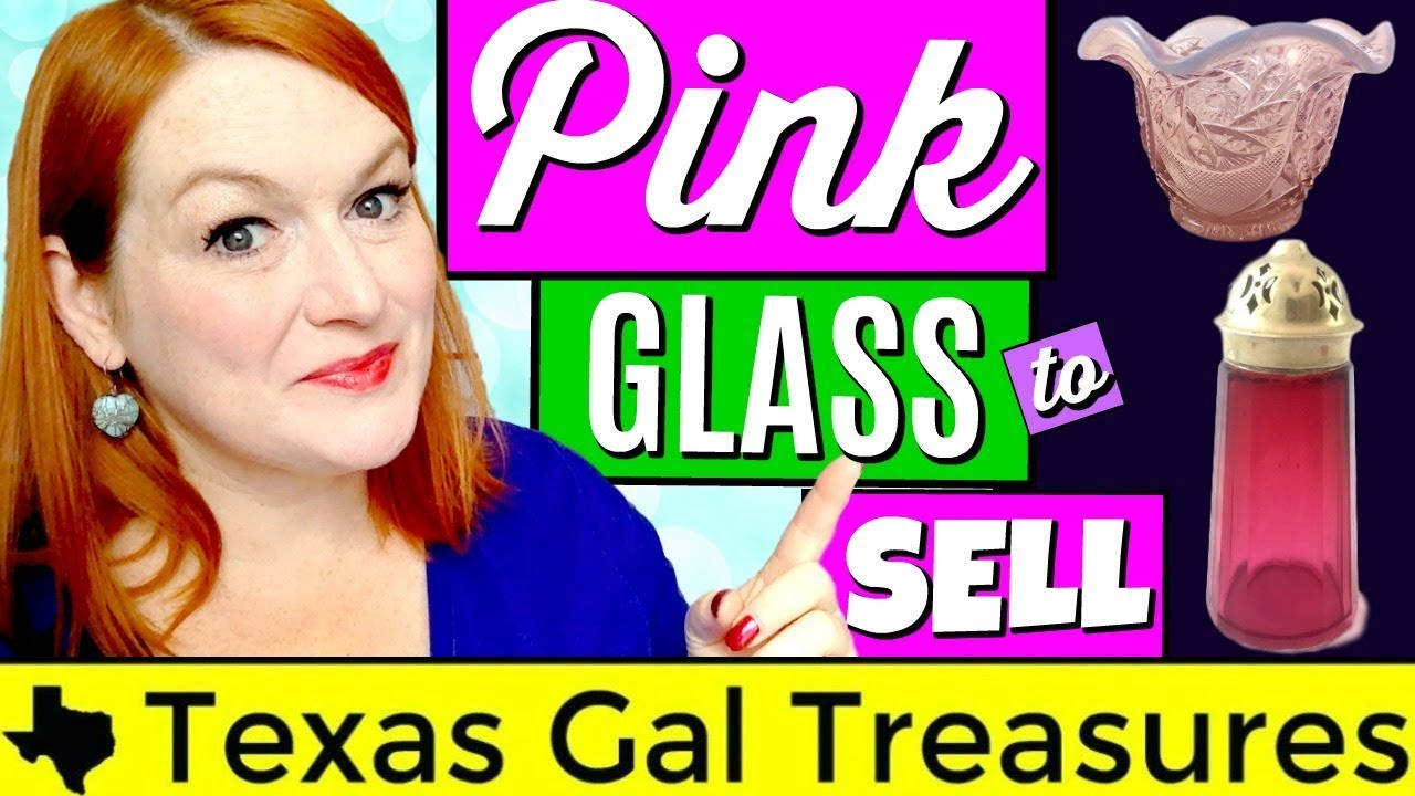 What Sells on Ebay & Etsy 2018 - Selling Pink Glass - Identifying Pink Glass
