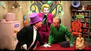 Joker shocks the penguin and the riddler