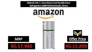 Mitashi 145 L 2 Star Direct-Cool Double-Door Refrigerator (MiRFDDP2S145v20, Silver)