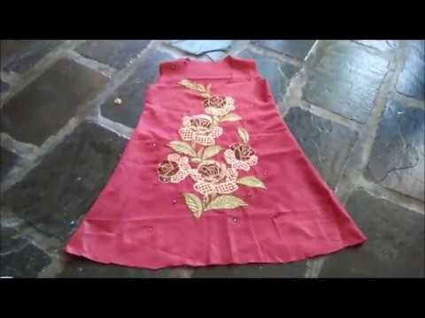 71b6f65ea0 How to sew an easy dress for little girl - YouTube