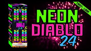 Neon Diablo 24 Canister by Black Cat Fireworks |  Get a First Look with  Elite Fireworks!