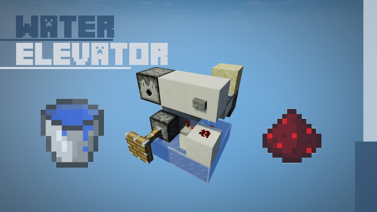 how to build a water elevator minecraft