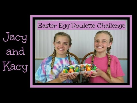 Easter Egg Roulette Challenge ~ Jacy and Kacy