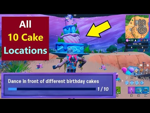 Fortnite All Birthday Cakes | All The Birthday Cakes In Fortnite | Where Are The Birthday Cakes?