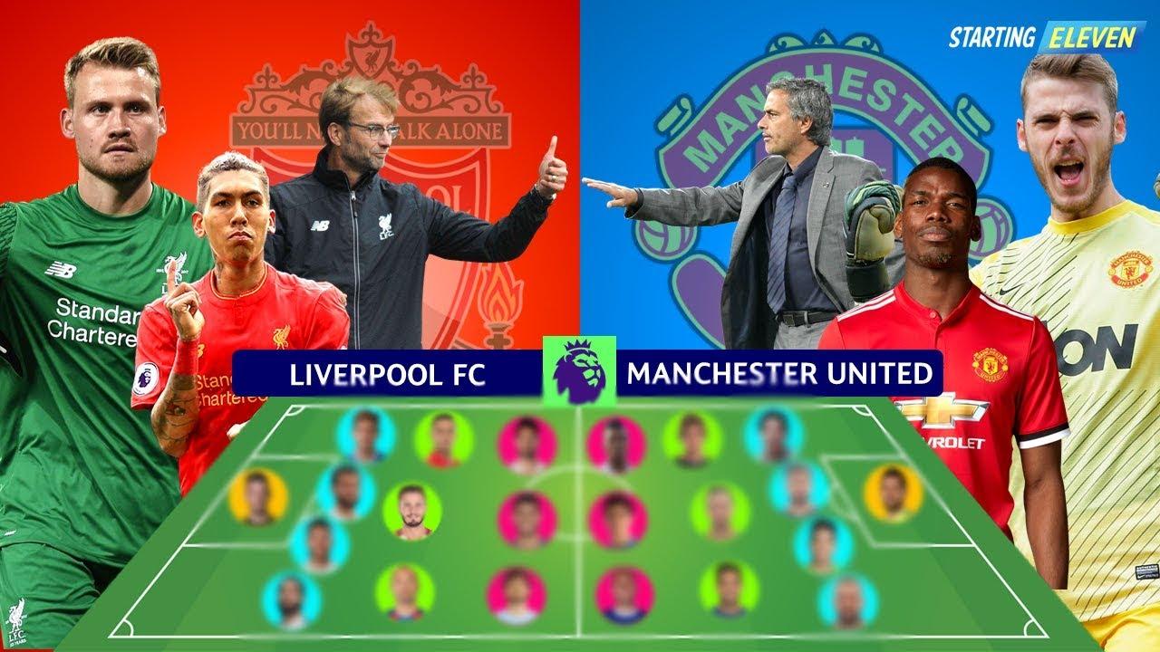 Prediksi Line Up Formasi Liverpool Vs Manchester United ● Sabtu 14 Oktober 2017 ● Starting Eleven