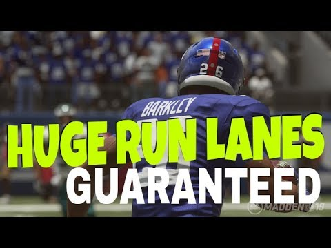 GUARANTEED YARDS! GETS THE EDGE EVERY TIME FOR BIG OUTSIDE RUN PLAYS! BEST  EASY MADDEN 19 MONEY PLAY