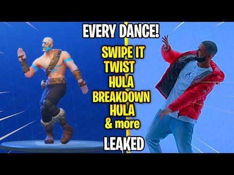 Every *NEW* Fortnite Season 5 Dance in Real Life! (Swipe It,Hula,Twist,Breakdown)
