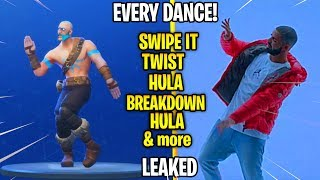 Every *NEW* Fortnite Season 5 Dance in Real Life! (Swipe It,Hula,Twist,Breakdown)