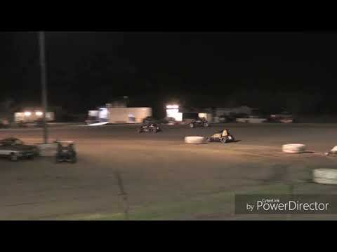 Justin Fifield Celebrating Superbowl Speedway win 3/23