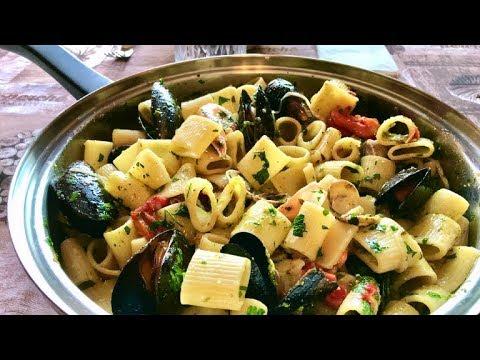 Pasta Con Pesce Misto Surgelato Pasta With Frozen Seafood Youtube