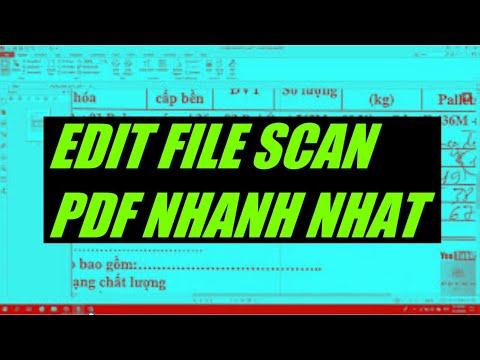 Chỉnh sửa file pdf (Scan PDF) - Edit PDF file