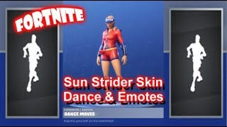 "Fortnite ""SUN STRIDER"" Skin Showcase Sexy Dances & Emotes 