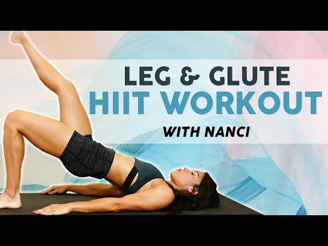 High-Intensity Interval Training for Butt & Legs, At Home Workout, No Equipment, Cardio Fat Burning