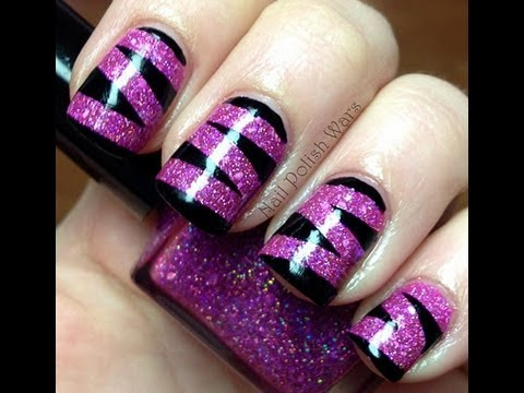 animal print nail polish design