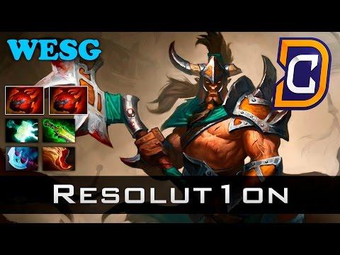 Resolut1on Centaur Warrunner - Team Ukraine vs Alliance - WESG Dota 2
