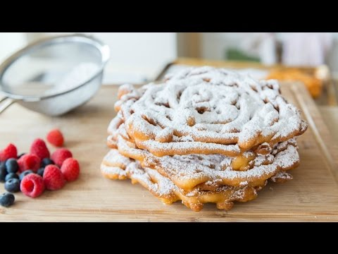 HOMEMADE FUNNEL CAKES RECIPE - Carnival Food