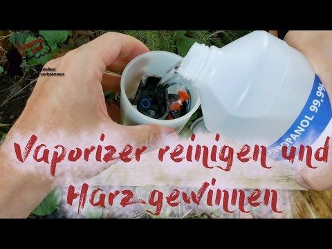 Vaporizer reinigen und Harz gewinnen