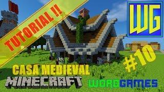 minecraft casa medieval uma como tutorial construir