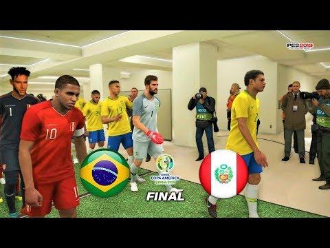 PES 2019 ⚽ BRAZIL Vs PERU ⚽ FINAL Copa America
