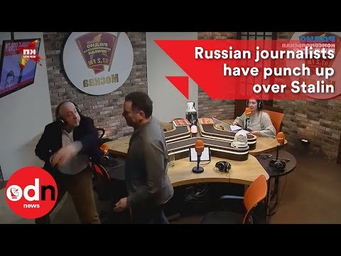Russian journalists have punch up over Stalin