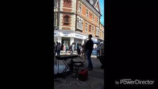 AMAZING BUSKER IN CAMBRIDGE 2017