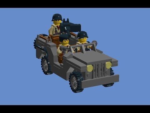 Custom Ww2 Lego Willys Jeep Instructions Youtube