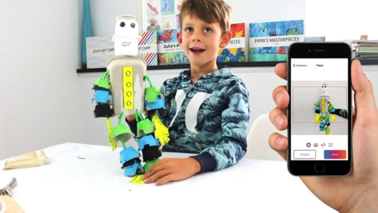 Make an Egg Carton Robot