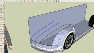 Modeling a supercar in SketchUp part1/6